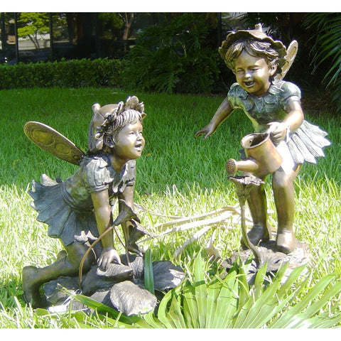 Bronze Fairy Statue and Bronze Fairy Fountain