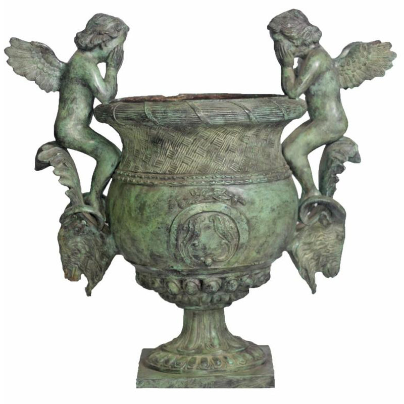 Bronze Urn with Cupid and Rams Head