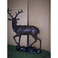 Large Standing Deer on Base (Stag)