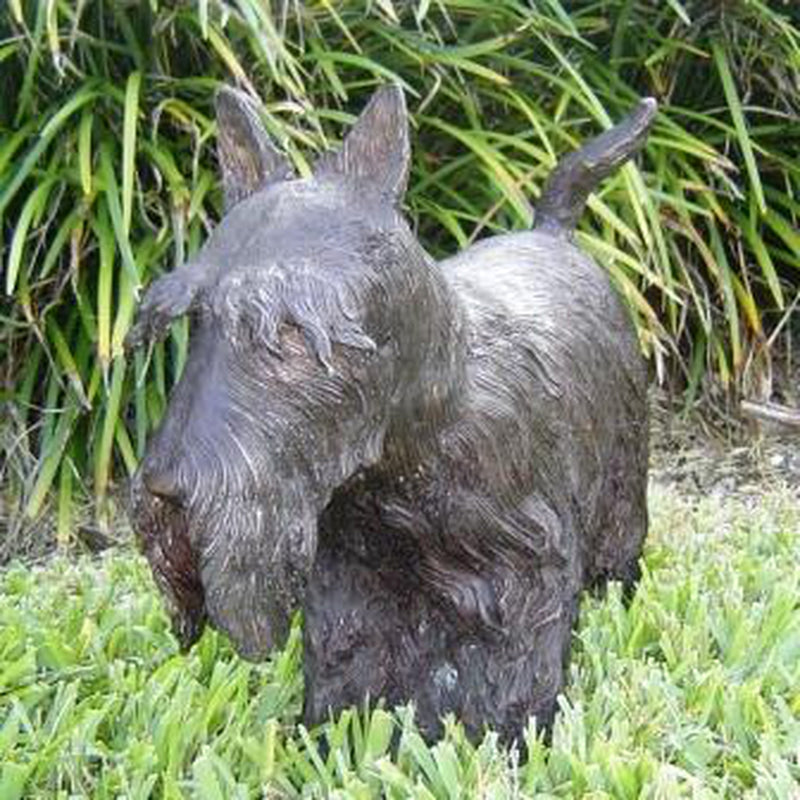 Scottish Terrier Dog bronze statue