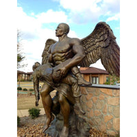 The Soldier's Guardian - Angel Holding Fallen Soldier Memorial