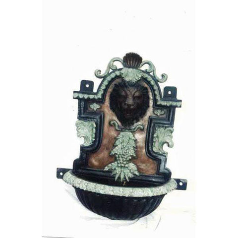 Lion Head Wall Fountain- Self Contained