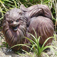 Bronze Dog Statue of a Pomeranian