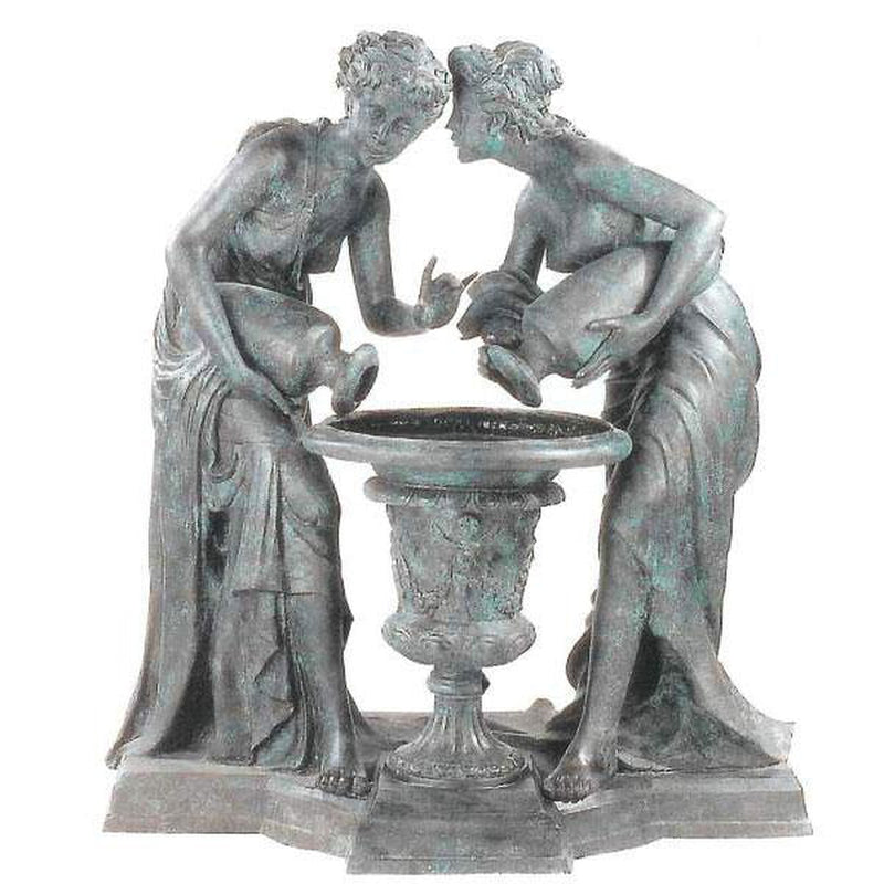 Classic Outdoor Bronze Fountain of  Two Graces