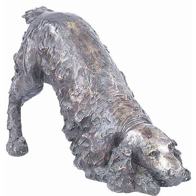 Bronze Dog Statue of a Springer Spaniel