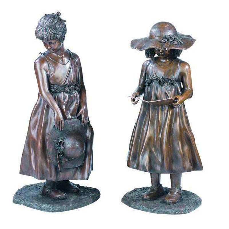 Savannah-Bronze Statue of Children Reading-Randolph Rose Collection-RG207