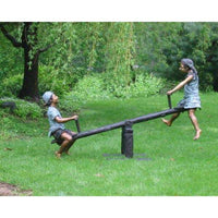 Children Teeter Totter Bronze Statue