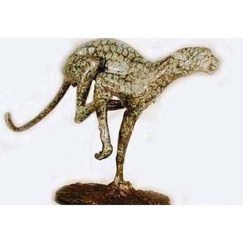 Running Jaguar Bronze Statue | Bronze Jaguar Sculptures
