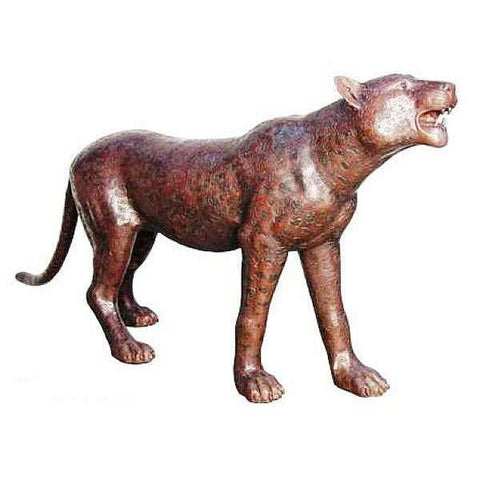 Bronze Cheetah Statue