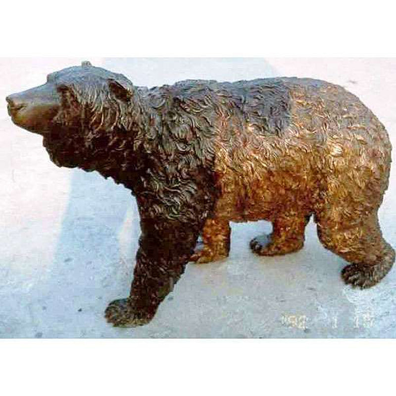 bear on the prowl sculpture