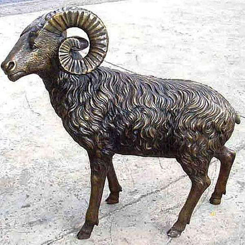 Sheep and Ram Bronze Statue