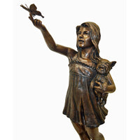 Summer Butterfly Bronze Statue