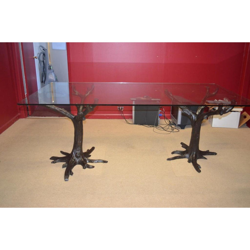 bronze tree table base