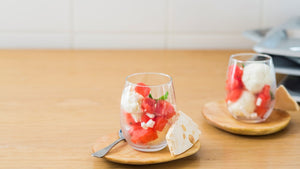 VANILLA ICE CREAM WITH MARINATED STRAWBERRIES