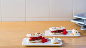 RASPBERRY AND ALMOND MILLE-FEUILLE