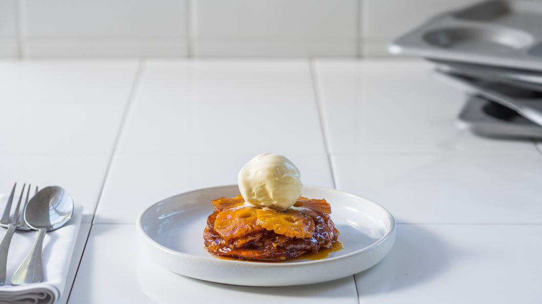 PINEAPPLE AND GINGER TARTE TATIN