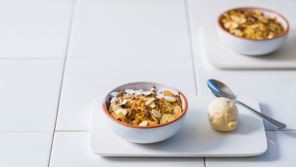 SMOKED PEAR CRUMBLE