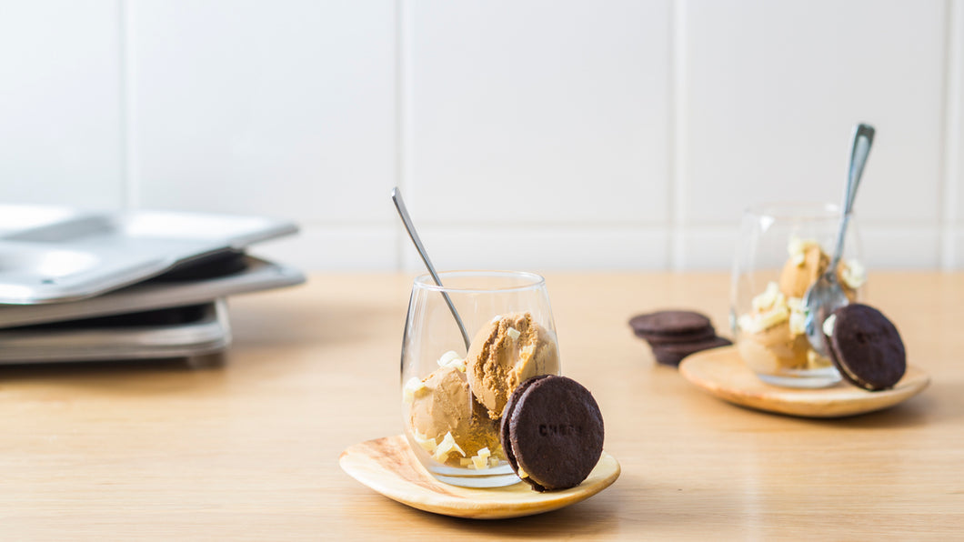coffee and dulce de leche ice cream