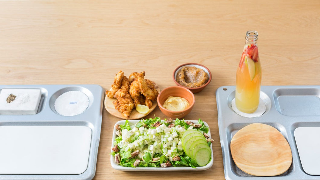 Buttermilk fried chicken salad
