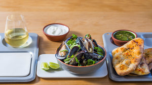 WOOD ROAST MUSSELS WITH COCONUT AND LEMONGRASS