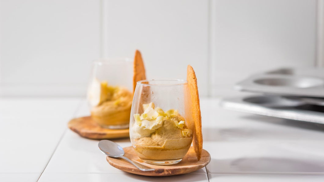 Peanut butter and caramel semifreddo