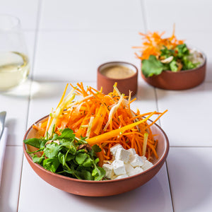 CARROT, ROCKET AND ALMOND SALAD
