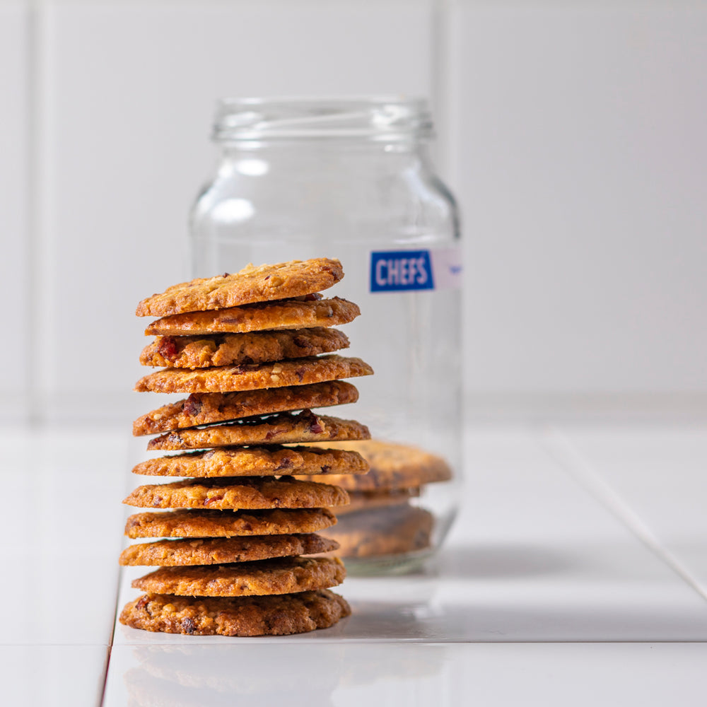 HANDMADE OAT AND CRANBERRY COOKIE JAR