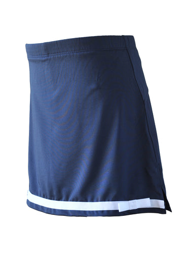 Girl's Navy Skort With White Trim