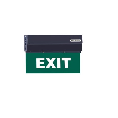 Agni Suraksha EX-WLH-BL - Exit Light Wall Hanging (Black)