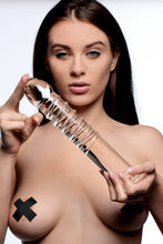 Load image into Gallery viewer, Master Series Ribbed Glass Dildo
