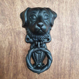 Cast Iron Door Knocker - Dog -  Hooks Knobs