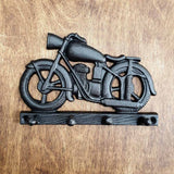 Cast Iron Motorbike Hook -  Hooks Knobs