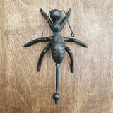 Cast Iron Ant Hook -  Hooks Knobs