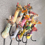 Multicoloured Giraffe Hook -  Hooks Knobs