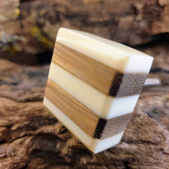 Resin Square Door / Drawer Knob -  Hooks Knobs