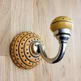Yellow / Orange Ceramic Hook -  Hooks Knobs