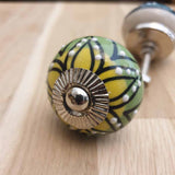 Two Tone Ceramic Door / Drawer Knob -  Hooks Knobs