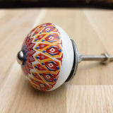 Mandala Ceramic Door / Drawer Knob -  Hooks Knobs