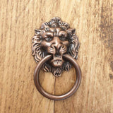 Lion Metal Ring Pull Handle - 2 colours available -  Hooks Knobs
