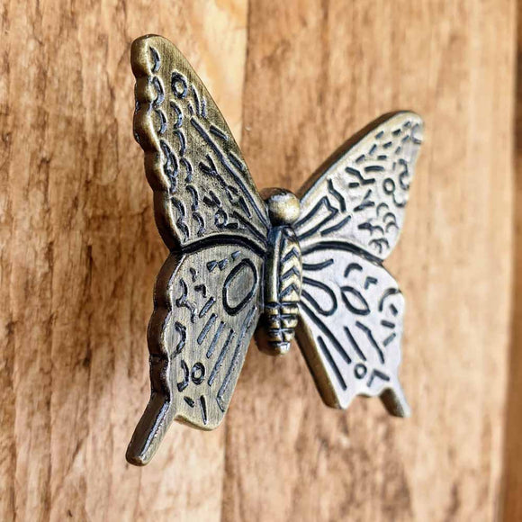 Butterfly Cabinet / Drawer Knobs -  Hooks Knobs