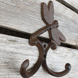 Cast Iron Dragonfly Double Hook