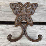 Cast Iron Butterfly Double Hook
