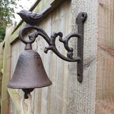 Small Cast Iron Door Bell - Bird