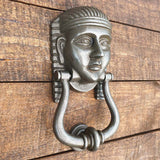 Cast Iron Tutankhamun Door Knocker - Antique Iron