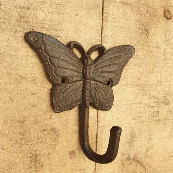 Cast Iron Butterfly Single Hook