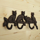 Cast Iron Cat Wall Hook