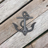 Cast Iron Anchor Hook - Rope Design
