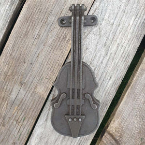 Cast Iron Door Knocker - Violin