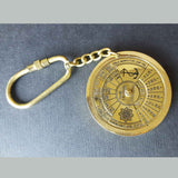 40 year Calendar Solid Brass Nautical Keyring -  Hooks Knobs