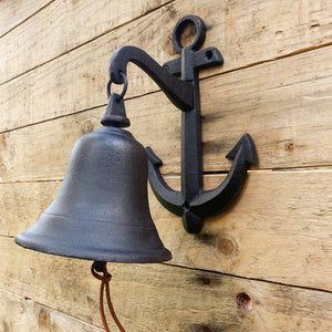 Cast Iron Anchor Wall Bell -  Hooks Knobs